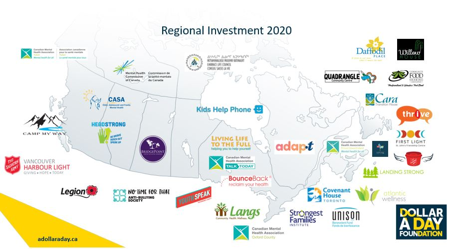 Dollar A Day Regional Investment map